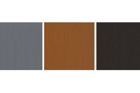New NaturAL Finesse colours (left to right): NaturAL Zinc, NaturAL Copper and NaturAL Havanna.