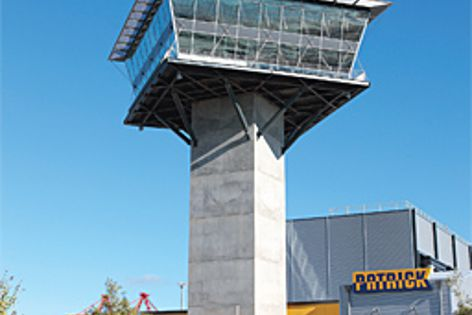 The control tower at the recently completed Patrick Berth 10 AutoStrad terminal in Brisbane.