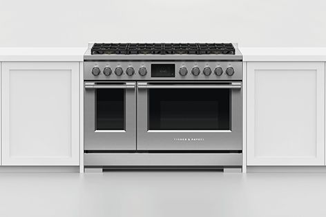 The stainless steel finish of Fisher and Paykel's Series 7 and Series 9 ovens is easy to wipe clean.