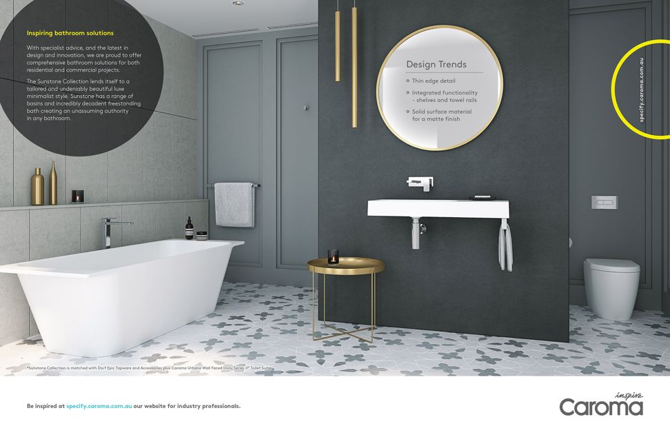Caroma bathroom solutions from GWA