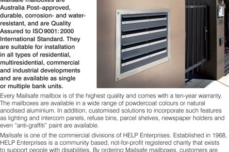 Mailsafe mailboxes