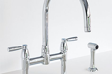 The new Contemporary collection is available in chrome or pewter finishes.