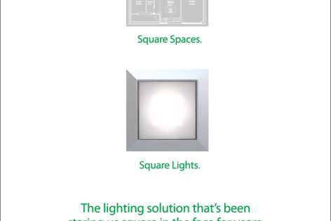 Cube D900 square downlight