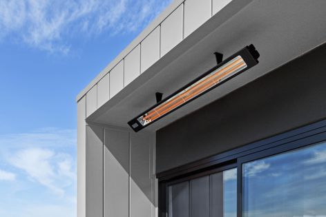 Infratech electric heaters from Heat and Grill bring eco-friendly ambient warmth to outdoor living spaces.