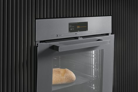 Miele's TasteControl feature cools the oven cavity and keeps food at serving temperature for up to two hours.