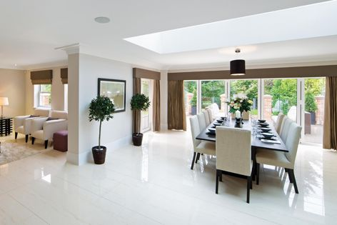 Knauf's Opal plasterboard is smooth, UV resistant and easy to clean.