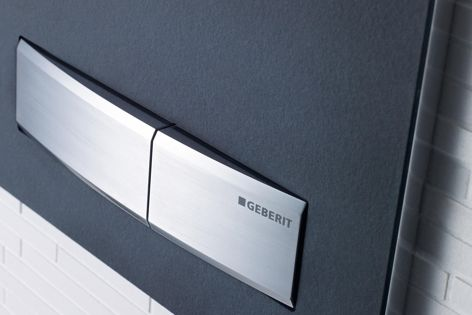 The new-look Sigma50 flush plate from Geberit.