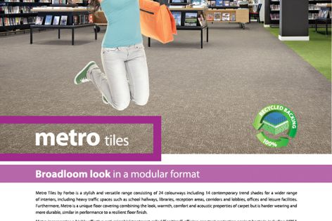Metro tiles from Forbo