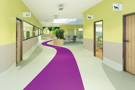 The Tarkett iQ Granit vinyl flooring range is ideal for applications including aged and health care.