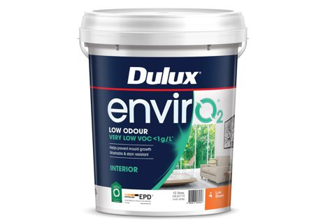 Dulux's new range of EnvirO2 paints also has an independently verified and registered Environmental Product Declaration (EPD).