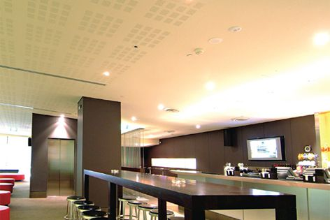 With a choice of perforations, AcoustiShield offers design creativity and acoustic performance.