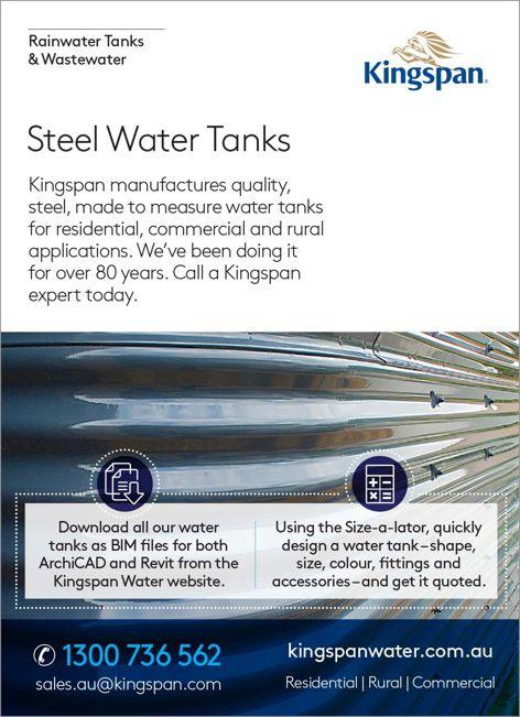 Steel water tanks by Kingspan Water