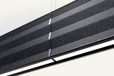 Zigzag acoustic pendant by Panzeri