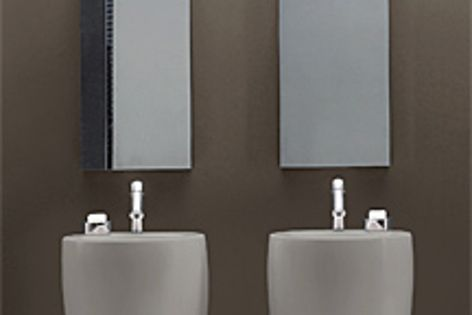 The freestanding Tam Tam washbasin is the newest addition to the Il Bagno Alessi One collection.