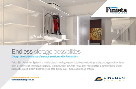 Finista Slim storage from Lincoln Sentry