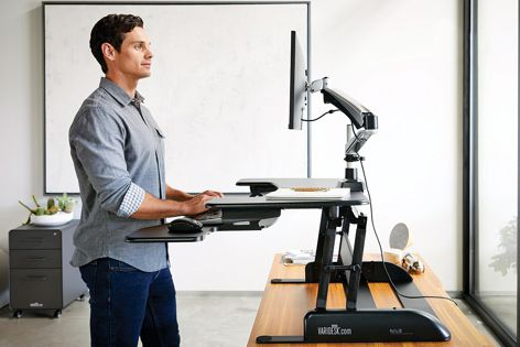 Varidesk's products create active workspaces for a healthier workday.