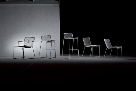 A side chair, armchair, wide-style low lounger and two barstools are available in the Lerod range.