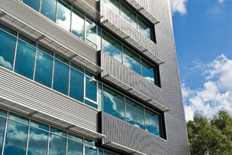 Architect Ryall Smyth specified Stramit products for the facade of this Brisbane office project