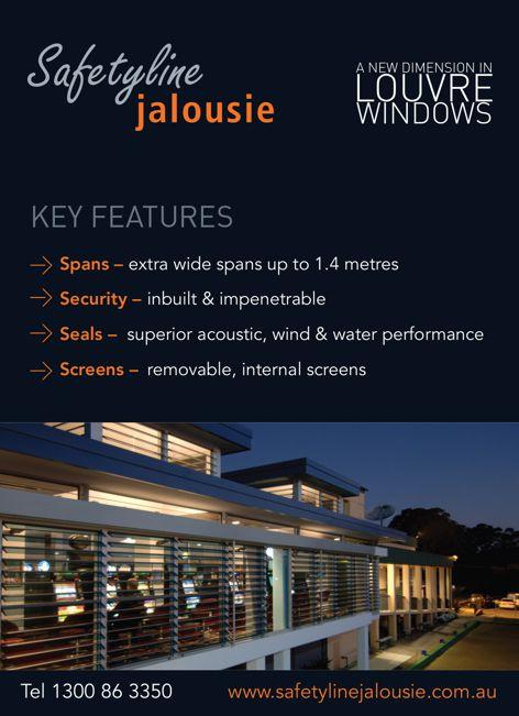 Louvre windows by Safetyline Jalousie