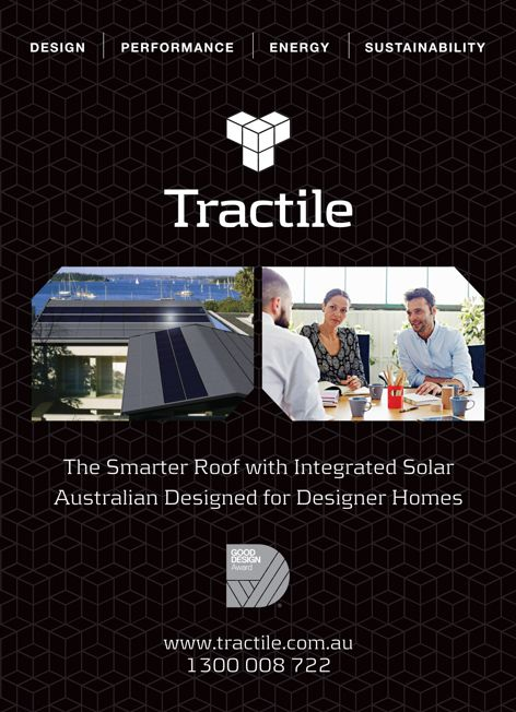 Integrated solar roofing by Tractile