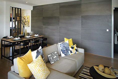 Stonini Concrete Panels can give residential settings a contemporary, sophisticated look.