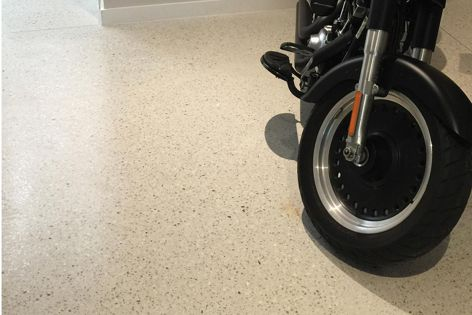Ventura can be applied over existing floors, inside and out, to create a modern, hardwearing surface.