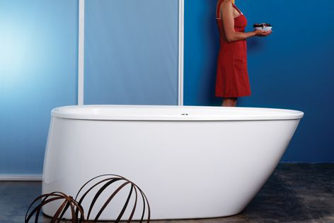 The Wave bath reduces water consumption to only 80 litres.