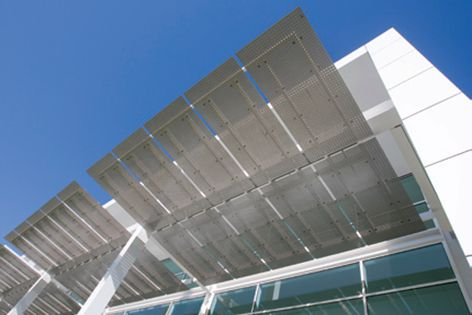 Versatile Safe-T-Perf® by Locker Group acts as an external shading solution.