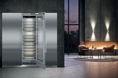 Liebherr's ultramodern Monolith Wine Cabinet