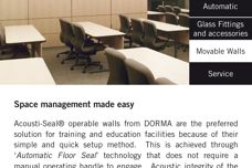 DORMA Acousti-Seal moveable walls