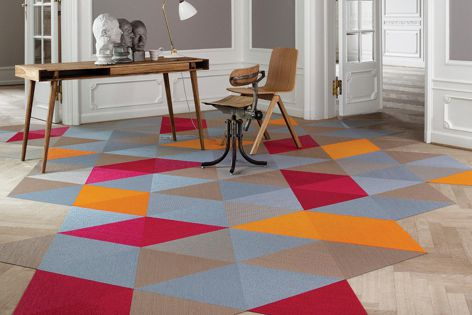 The Now collection from Bolon is now available in the new colours Carnation, Tangerine and Cerulean.