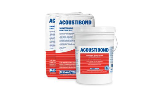 Acoustibond is an adhesive with soundproofing properties for ceramic, porcelain and stone tiles.