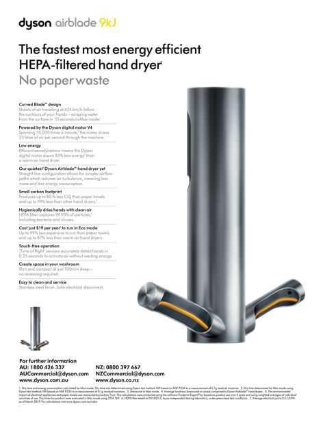 Airblade 9kJ hand dryer by Dyson