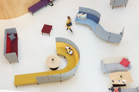 Reefs modular seating by Dauphin