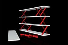 X -System shelving by Planex