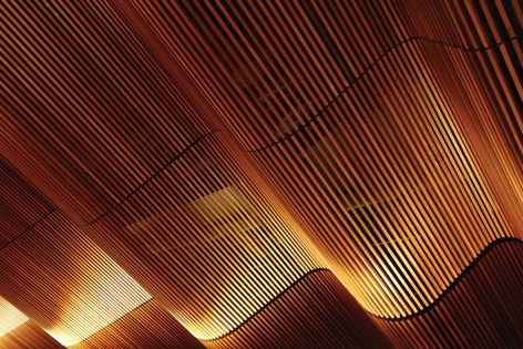 Screenwood modules can accommodate internal or external radiuses with ease. Specifier: Koichi Takada Architects.