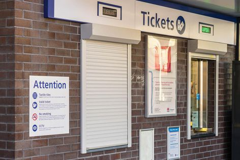 Shutters from Blockout Shutters are suitable for a variety of applications, including ticket booths.