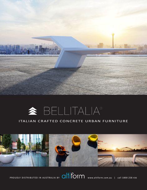 Concrete urban furniture from Altiform