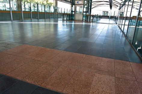 The Metrorail concourse project in Western Australia is paved with UrbanStone paving products.