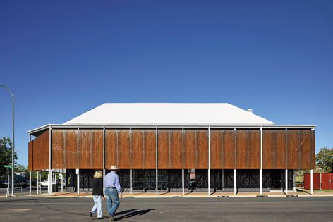 Main Street Barcaldine by M3architecture and Brian Hooper Architect (architects in association), award winner, Built projects – local and neighbourhood scale. Photography: Christopher Frederick Jones.