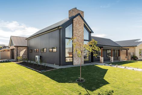Stria shiplap cladding from James Hardie suits contemporary applications where a bold but pared back aesthetic is desired.