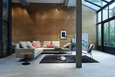 The Gordon sofa by EOOS is available in two-seater, chaise and corner lounge options.