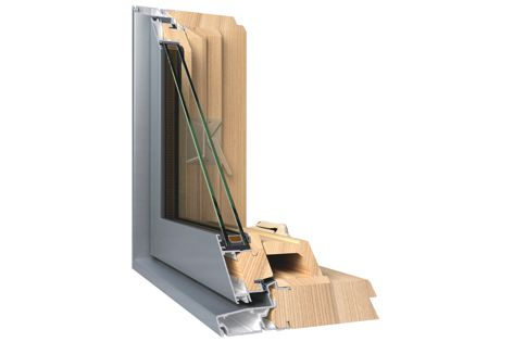 The AliClad window system has a solid Victorian ash hardwood interior that provides natural insulation.