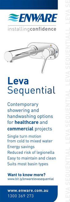 Leva Sequential bathroom range from Enware