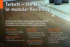 Modular flooring solutions by Tarkett
