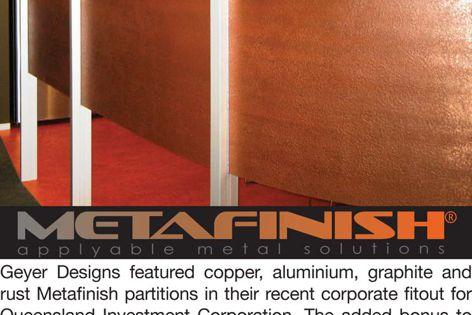 Metafinish applyable metal solutions
