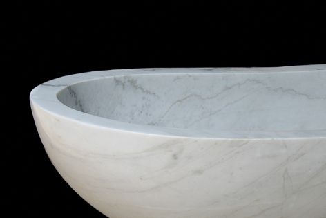 StantonMoor's collection includes this elegant hand-carved bath.