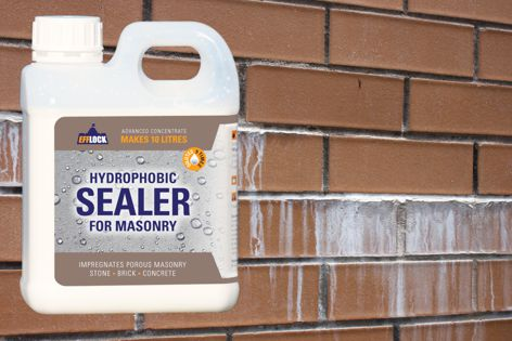Efflock's Hydrophobic Sealer for Masonry is a water-repellent sealer concentrate that protects against water-related problems.