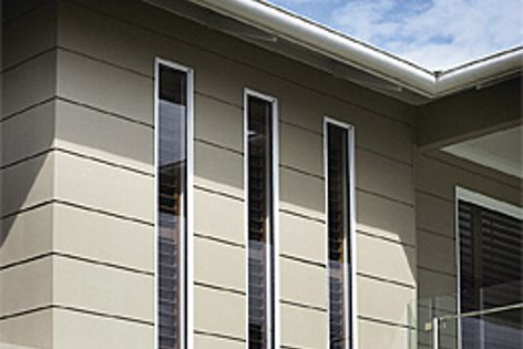 Cement composite Scyon Stria cladding can achieve an R-value of 2.7 in wall applications.