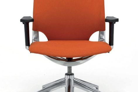 Height and tension levers are concealed under the Arco's seat for an uncluttered appearance.